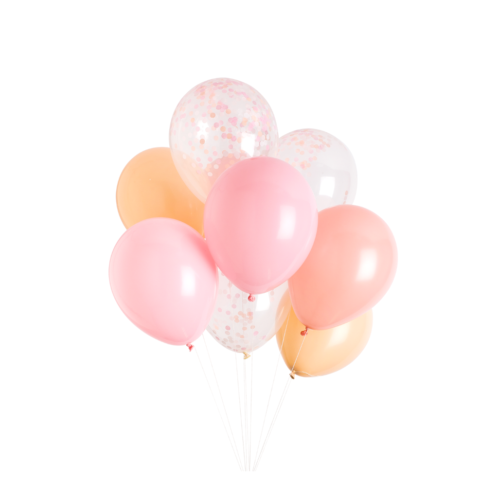 Studio Pep - Candy Pink Classic and Confetti Balloons 12 Pack
