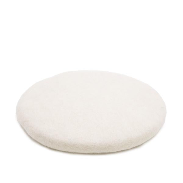 Muskhane Handmade Kids Felt Chakati Floor Cushion  White