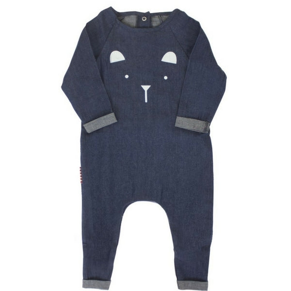 SOOKIbaby Chambray Bear Face Romper