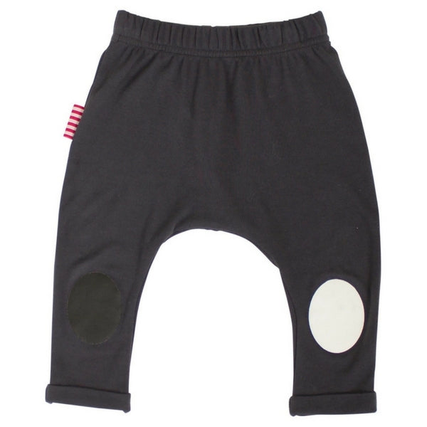 SOOKIbaby Charcoal Leggings With Knee Patches