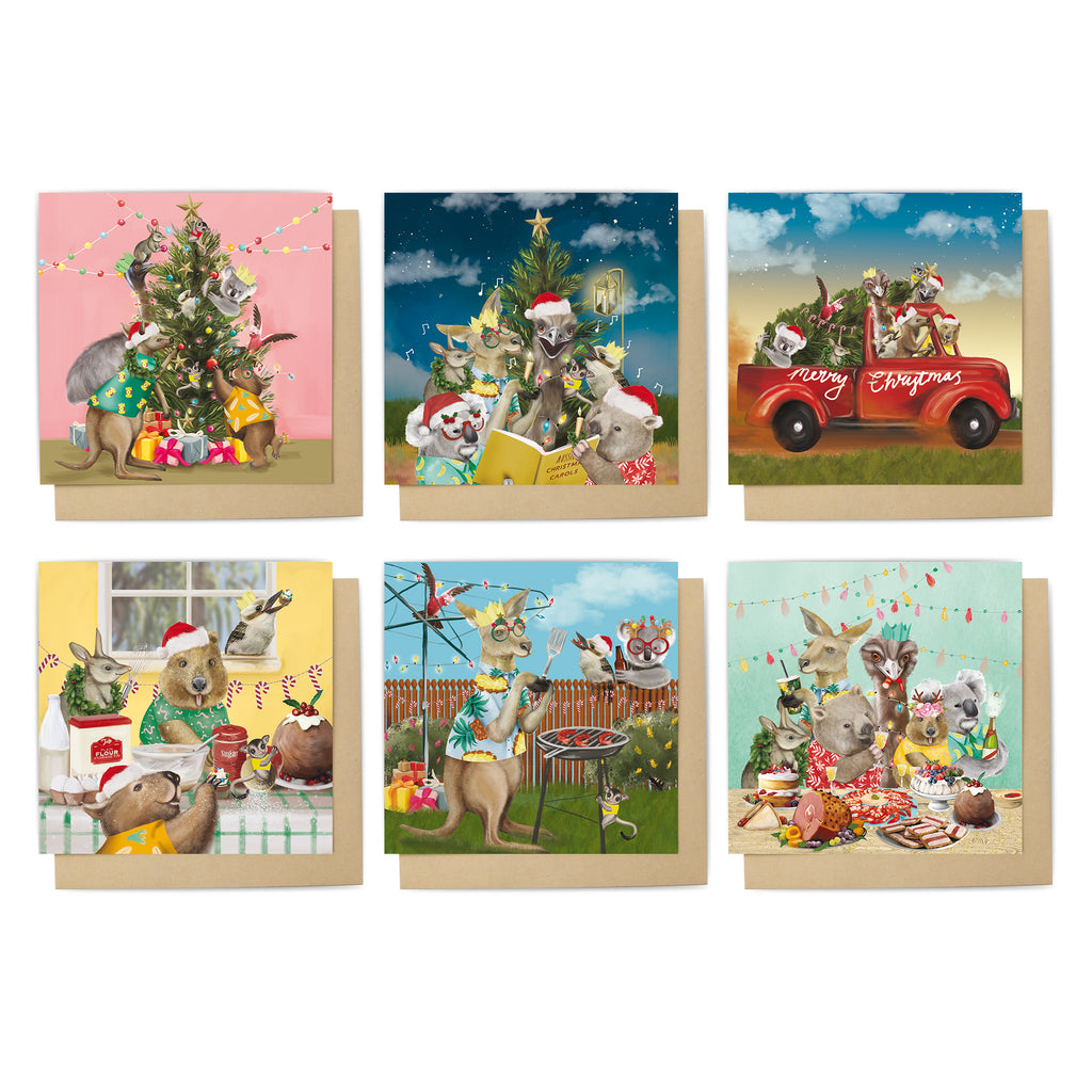 Christmas Card Set Festive Holiday