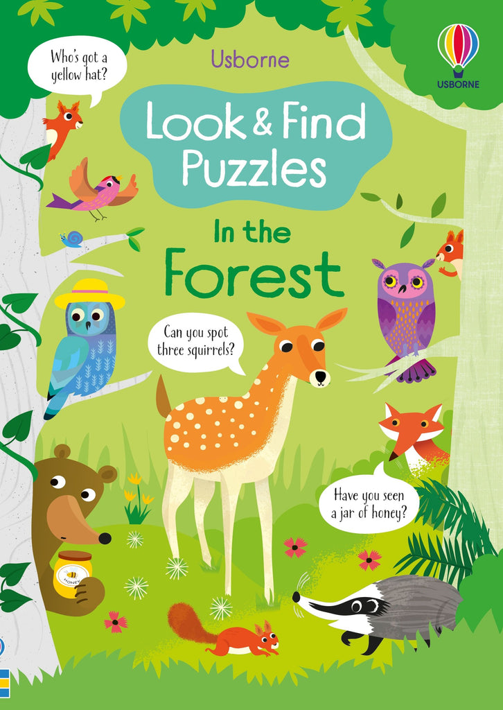 Look and Find Puzzles In the Forest