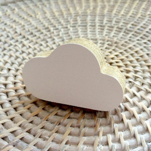Knobbly Cloud Wooden Wall Hook   White