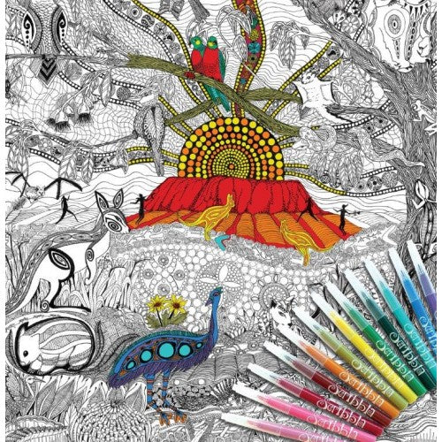 Colour Away Colouring Poster Kit - Land Downunder