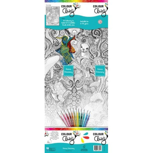 Colour Away Colouring Poster Kit - Oceans Dreaming