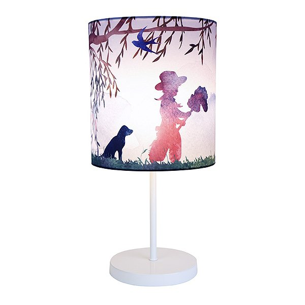 Micky & Stevie Kids Lamp Cowboy Print