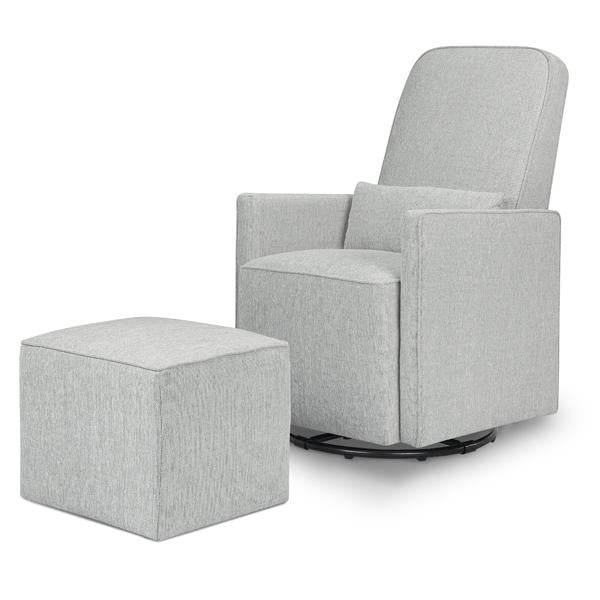 DaVinci Olive Swivel Glider and Ottoman Nursing Chair - Cloud Grey