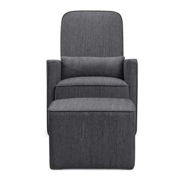 DaVinci Olive Swivel Glider and Ottoman Nursing Chair - Midnight Grey