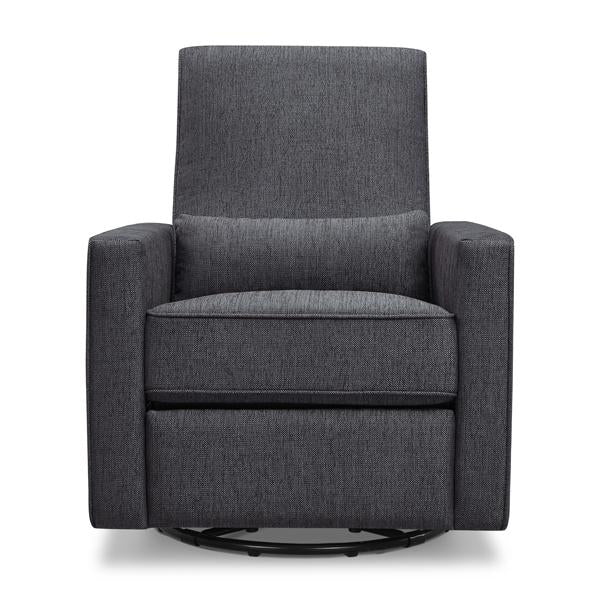 DaVinci Piper Recliner and Swivel Glider Nursing Chair - Midnight Grey