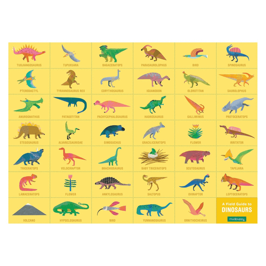 Mudpuppy - 64 Piece Search and Find Dinosaur Jigsaw Puzzle