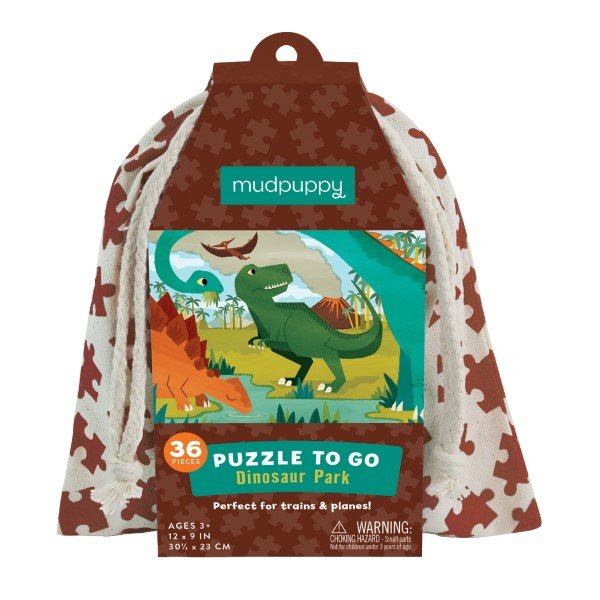 Mudpuppy 36pc To Go Puzzle  Dinosaur Park