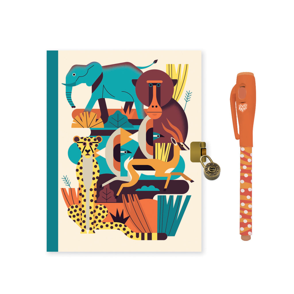 Djeco Kids Stationery - Owen Kids Journal With Lock