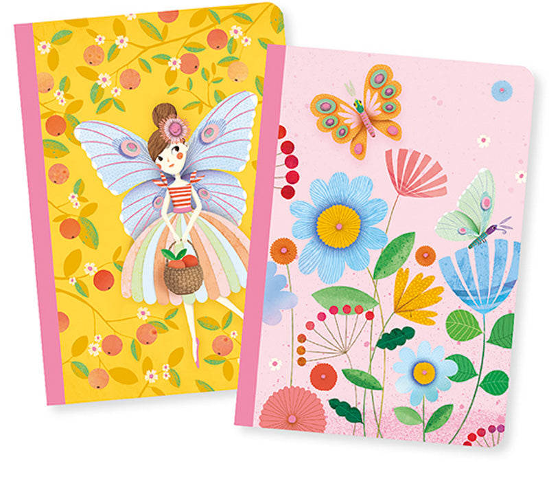 Djeco Kids Stationery - Rose Notebook Set