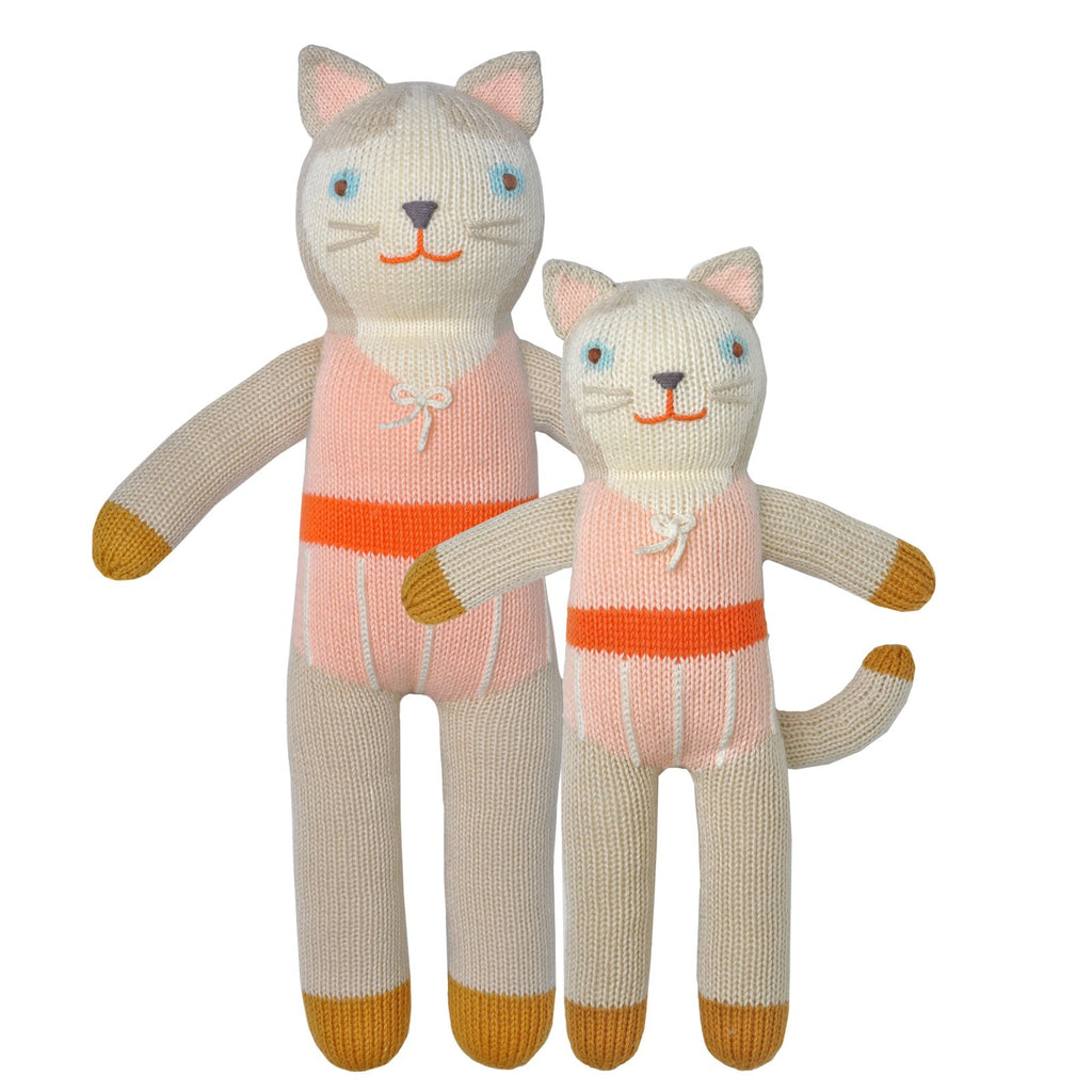blabla Knitted Cotton Doll - Collette the Cat