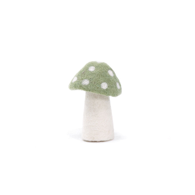 Muskhane Handmade Room Decorations - Dotty Mushroom Tender Green