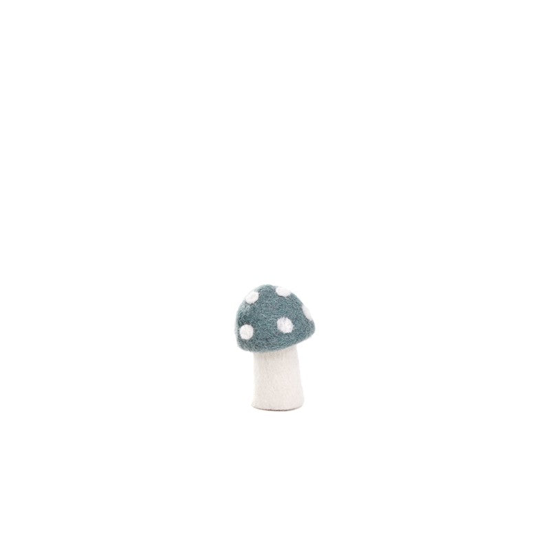 Muskhane Handmade Room Decorations - Dotty Mushroom Mineral Blue