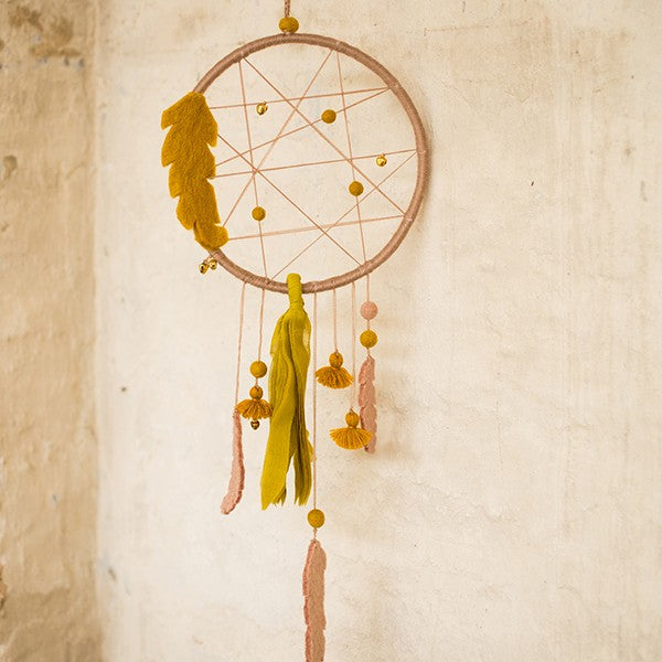 Muskhane Handmade Felt Wall Decoration - Dream Catcher