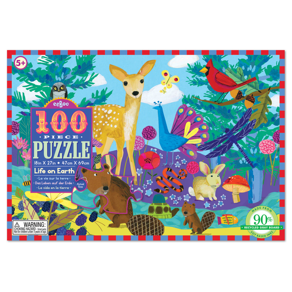 eeBoo 100 Pc Jigsaw Puzzle Life on Earth