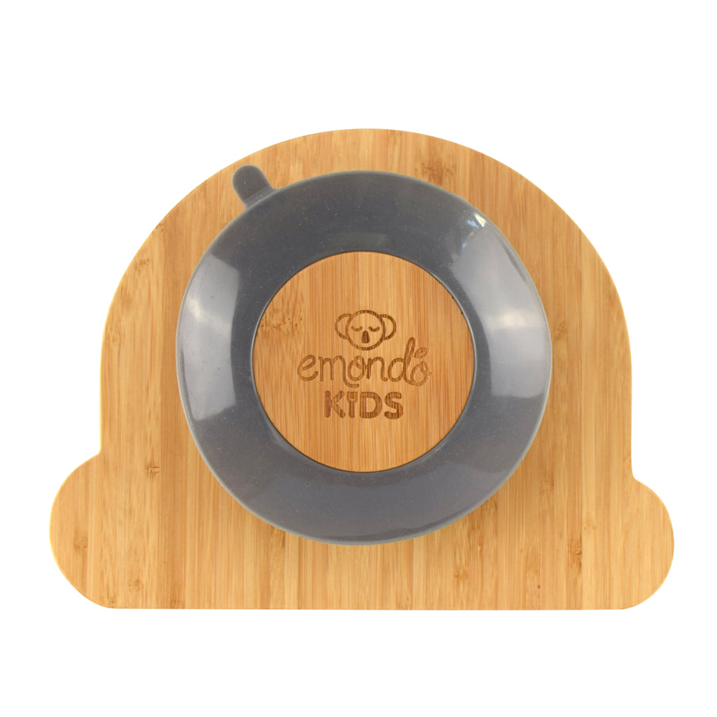 Emondo Kids Bamboo Plates with Suction - Rainbow