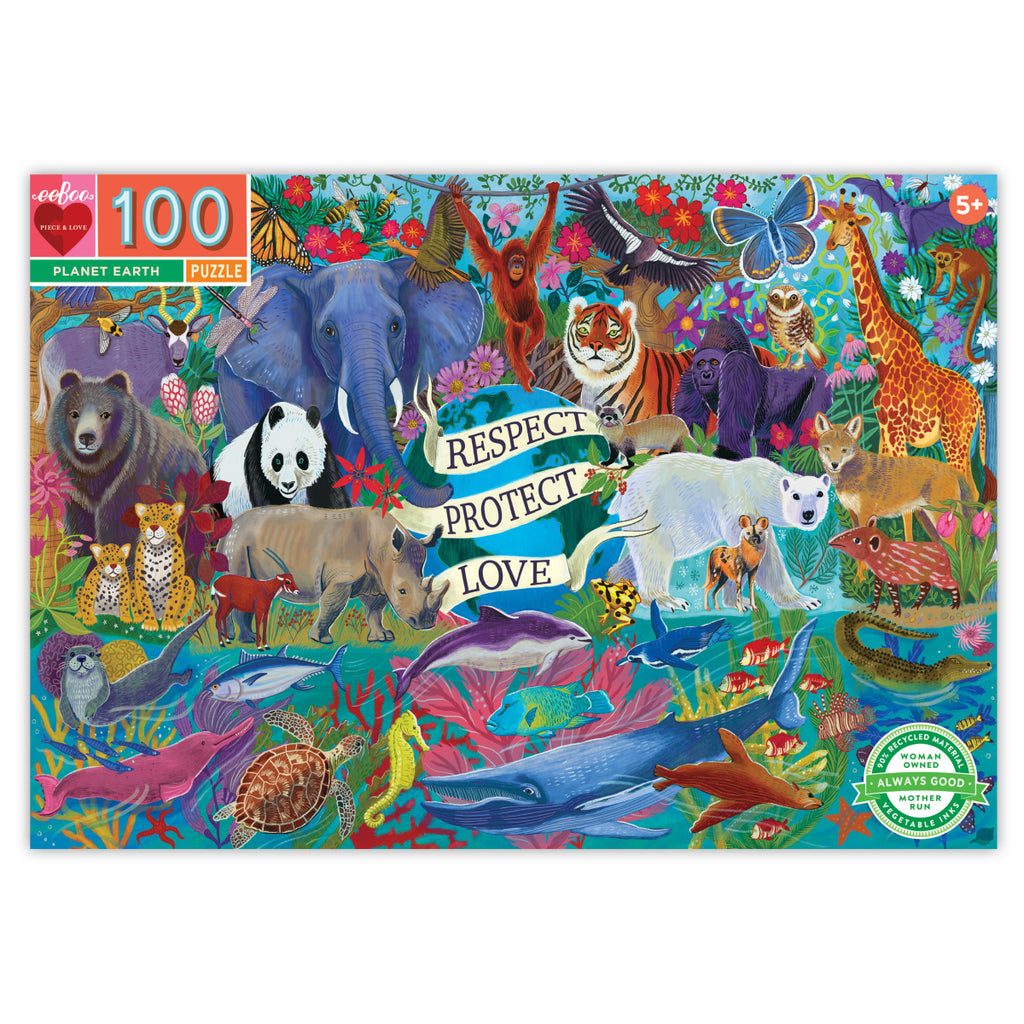 eeboo 100 Piece Jigsaw Puzzle - Planet Earth
