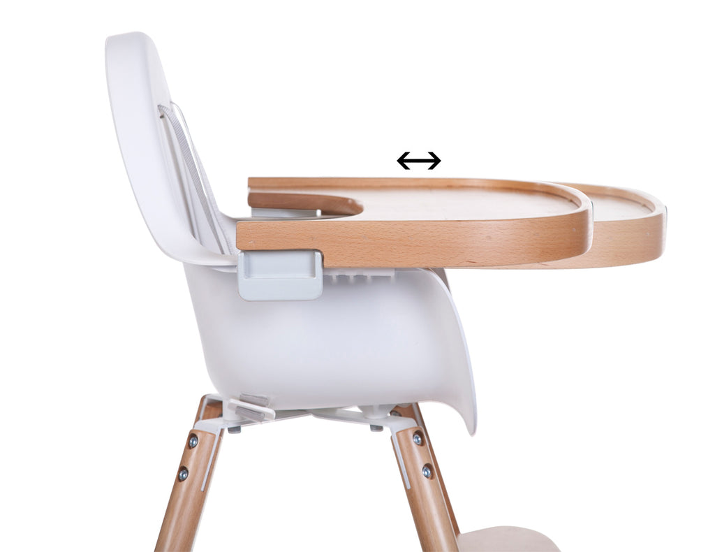 Evolu 2 High Chair Plastic Timber Tray