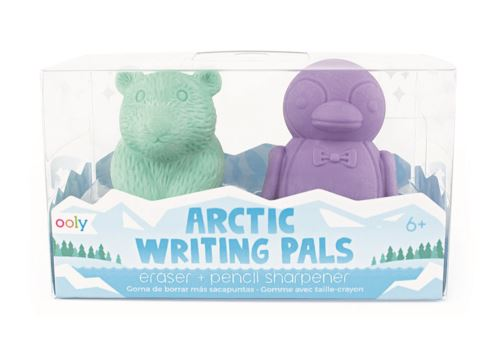 Ooly Eraser & Sharpener - Arctic Animals Eraser and Sharpener