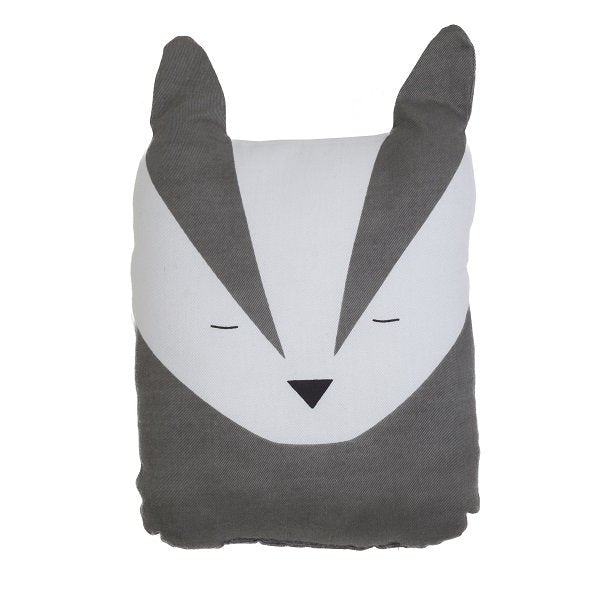 Fabelab Organic Cotton Animal Cushion Bold Badger