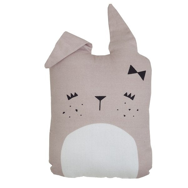 Fabelab Organic Cotton Animal Cushion Cute Bunny