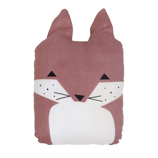 Fabelab Organic Cotton Animal Cushion Friendly Fox