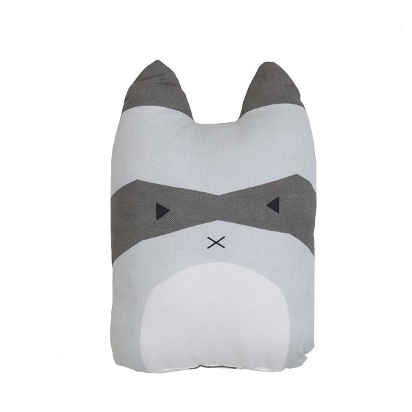 Fabelab Organic Cotton Animal Cushion Rascal Racoon