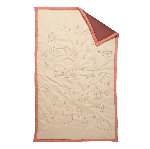 Fabelab Storytelling Embroided Blanket Dreamer in Coral