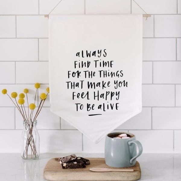 Always Find Time Canvas Wall Flag