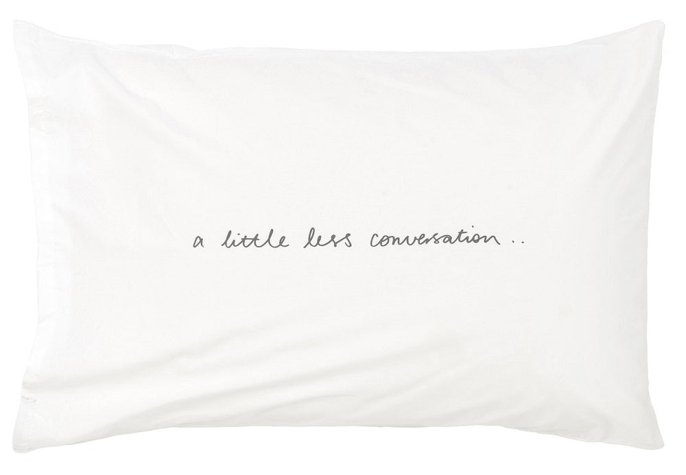 Feliz Kids Bedding  A Little Less Conversation Pillowcase