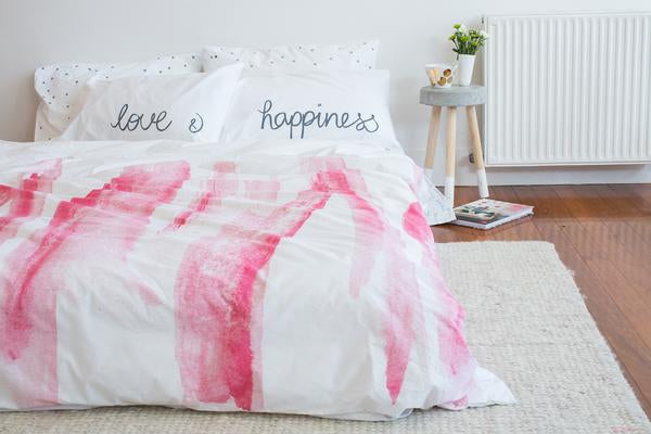 Happiness Pillowcase Grey