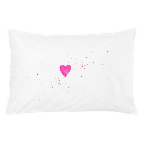 Feliz Kids Bedding  Pink Heart Pillowcase