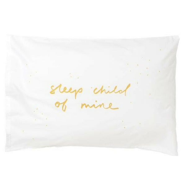 Sleep Child Of Mine Gold Pillowcase