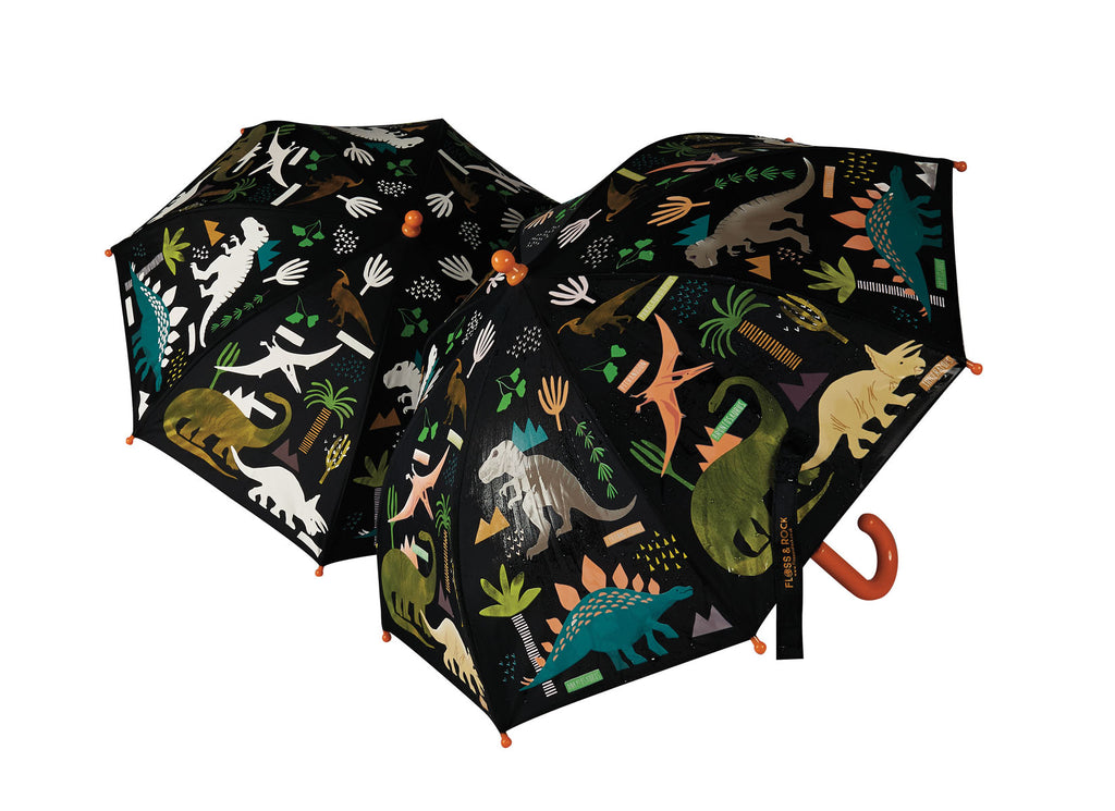 Floss & Rock Colour Changing Umbrella - Dinosaur