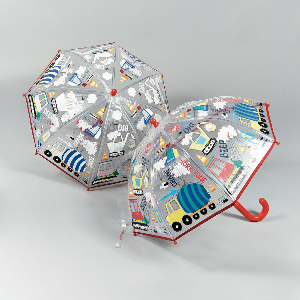 Floss and Rock Colour Changing Kids Umbrella - Construction