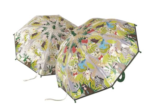 Floss and Rock Colour Changing Kids Umbrella - Go Wild