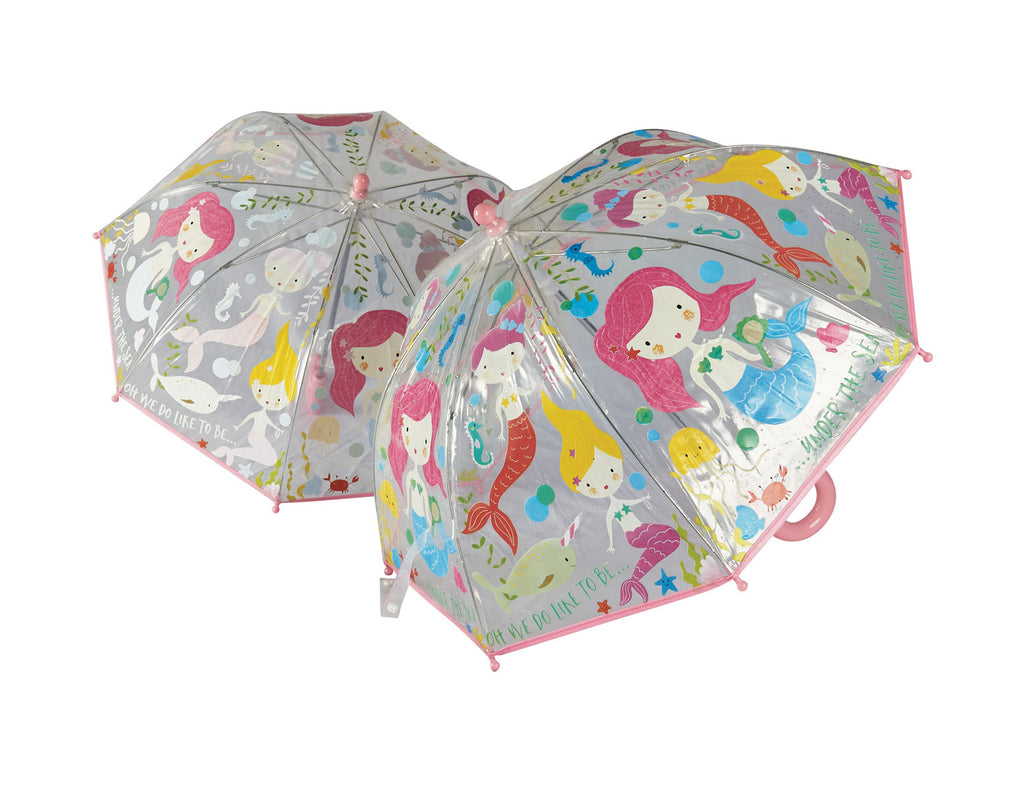 Floss and Rock Colour Changing Kids Umbrella - Mermaid