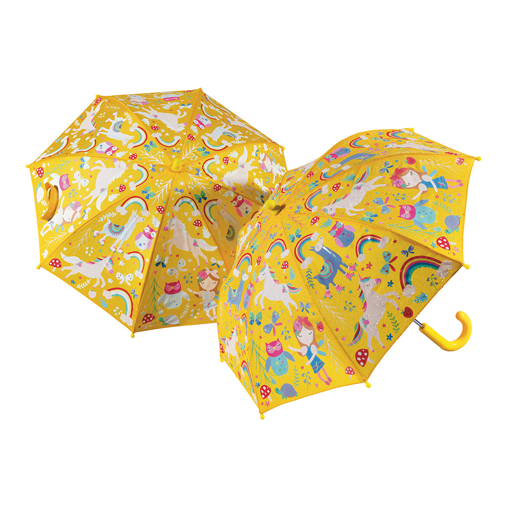 Floss & Rock Colour Changing Umbrella - Rainbow Fairy