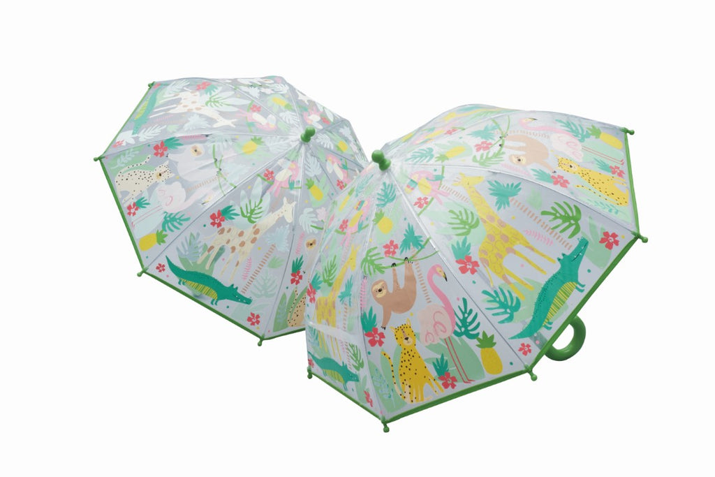 Floss & Rock Colour Changing Umbrella - Jungle