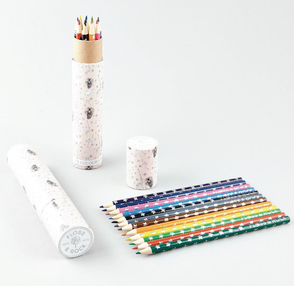 Floss & Rock Colouring Pencils Set of 12 - Party Animals