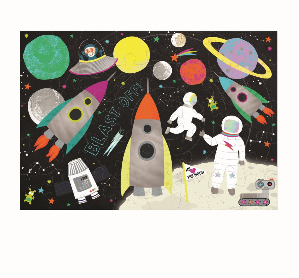 Floss & Rock - 40 Piece Rocket In Space Jigsaw