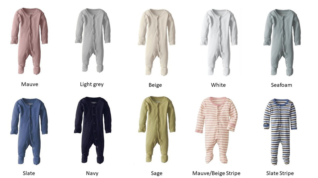Loved Baby Organic Cotton Footed Onesie  Mauve