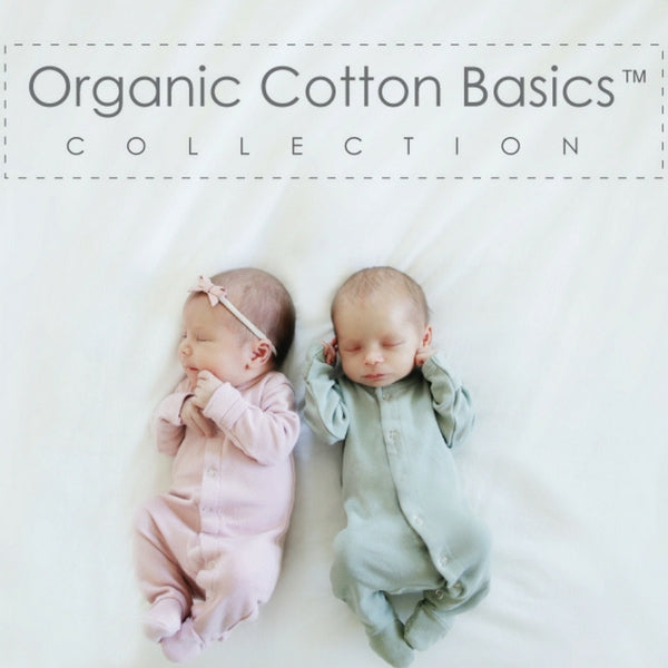Loved Baby Organic Cotton Cotton Footed Onesie  Mauve Stripe