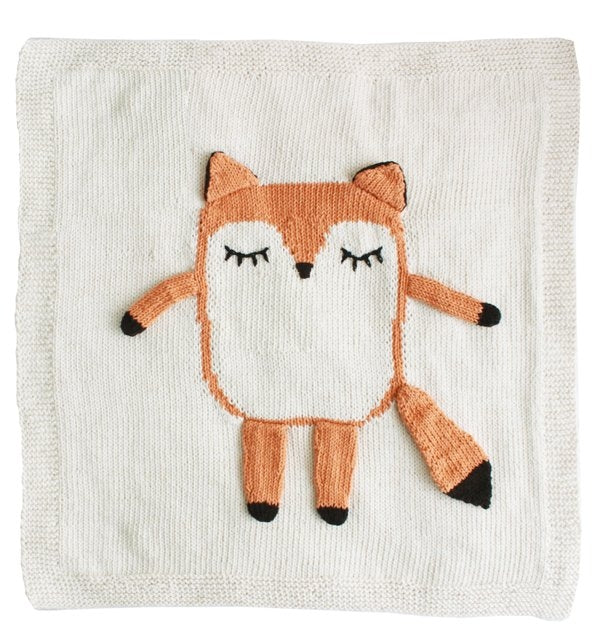 My Little Friend Fox Baby Blanket