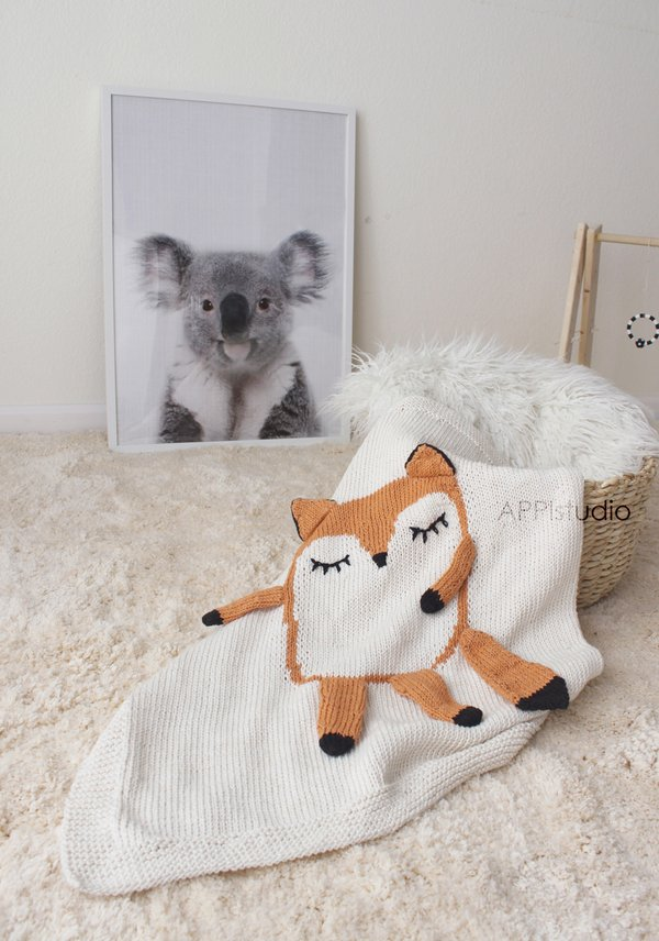 Appi Studio Baby Blankets My Little Friend  Fox Baby Blanket