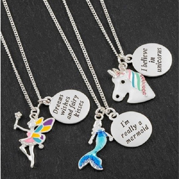 Charm Necklace Unicorn, Fairy or Mermaid