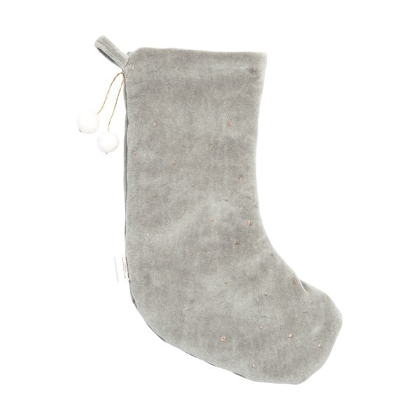 Fabelab Christmas Stocking Dreamy Grey Velvet